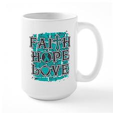 PKD Faith Hope Love Mug