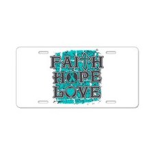 PKD Faith Hope Love Aluminum License Plate