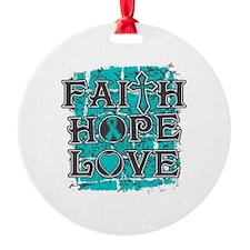 PKD Faith Hope Love Ornament