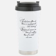 No Enjoyment Like Reading Travel Mug
