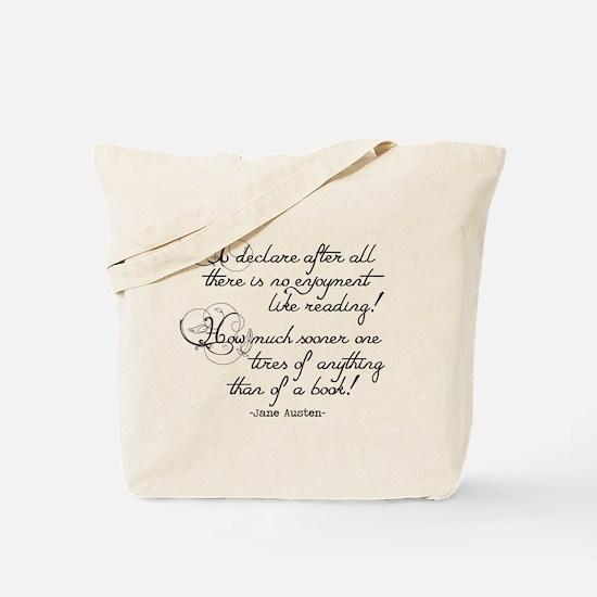 No Enjoyment Like Reading Tote Bag