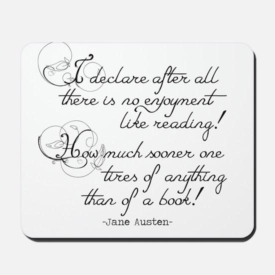 No Enjoyment Like Reading Mousepad