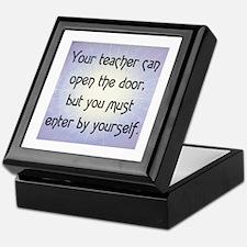 TEACHER OPENS DOOR Keepsake Box