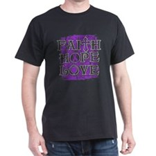 Pancreatic Cancer Faith Hope Love T-Shirt