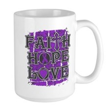Pancreatic Cancer Faith Hope Love Mug