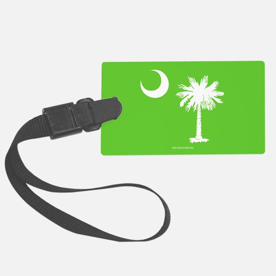 SC Palmetto Moon State Flag Green Luggage Tag