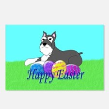 Schnauzer Easter Postcards (Package of 8)