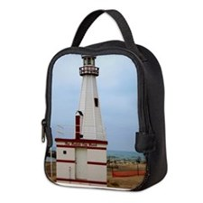 Beach Lighthouse Neoprene Lunch Bag