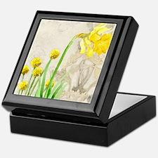 Daffodil Spring Floral Billy Button S Keepsake Box