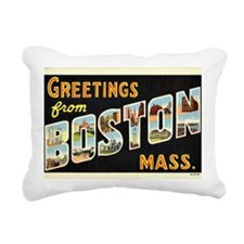 Vintage: Greetings from  Rectangular Canvas Pillow
