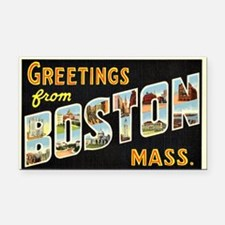 Vintage: Greetings from Bosto Rectangle Car Magnet