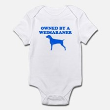 OWNED BY A WEIMARANER SHIRT M Infant Bodysuit