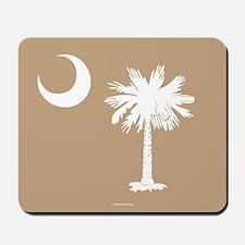 SC Palmetto Moon State Flag Tan Mousepad