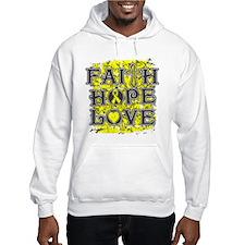 Osteosarcoma Faith Hope Love Hoodie