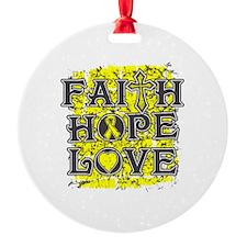 Osteosarcoma Faith Hope Love Ornament