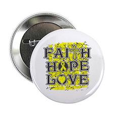"""Osteosarcoma Faith Hope Love 2.25"""" Button (10 pack"""