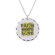 Osteosarcoma Faith Hope Love Necklace