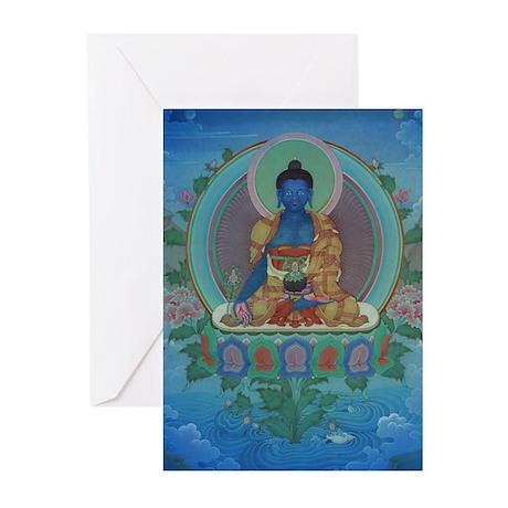 Medicine Buddha Cards (6) Greeting Cards