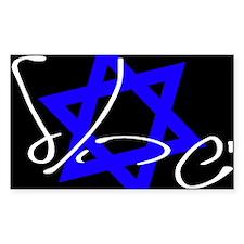 Israel Tilted Black Rectangle Decal