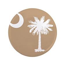 "SC Palmetto Moon State Flag Tan 3.5"" Button"