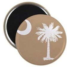 SC Palmetto Moon State Flag Tan Magnet
