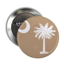 "SC Palmetto Moon State Flag Tan 2.25"" Button"
