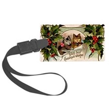 Vintage Christmas - With Best Ch Luggage Tag