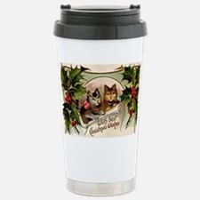 Vintage Christmas - Wit Travel Mug