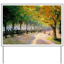 Hyde Park, London--Painting by Camille P Yard Sign