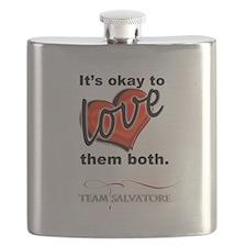 TVD - OK 2 Love Them Both *Team Salvatore* Flask