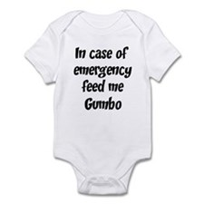 Feed me Gumbo Infant Bodysuit