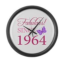 Fabulous Since 1964 Large Wall Clock