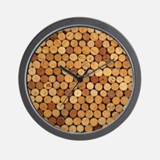 Wine Corks 6 Wall Clock