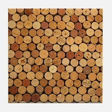 Wine Corks 6 Tile Coaster