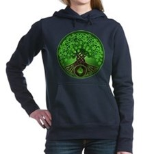 Circle Celtic Tree of Life Hooded Sweatshirt