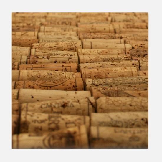 Wine Corks 4 Tile Coaster