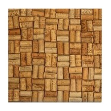 Wine Corks 3 Tile Coaster