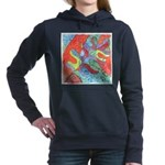 Multicolor Oak Leaf Watercolor Hooded Sweatshirt