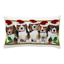 Christmas Beagles Pillow Case