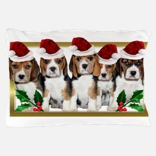 Christmas Beagles Pillow Case