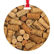 Wine Corks 1 Ornament