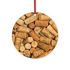 Wine Corks 1 Ornament (Round)