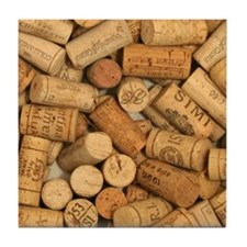 Wine Corks 1 Tile Coaster