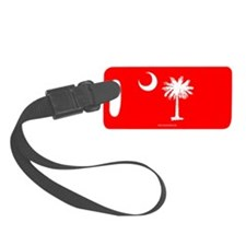 SC Palmetto Moon State Flag Red Luggage Tag