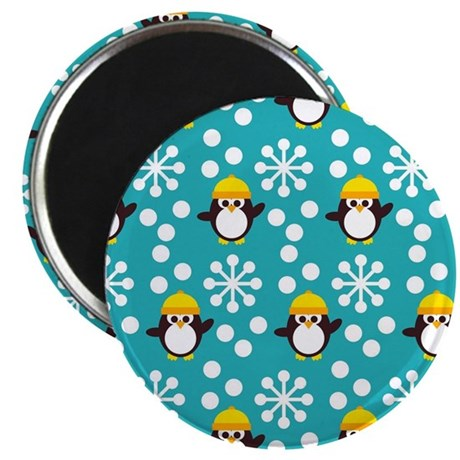 Penguins and Snowflakes Magnet