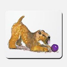 Soft Coated Wheaten Terrier with Ball Mousepad