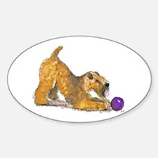 Soft Coated Wheaten Terrier with Ball Decal