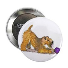 "Soft Coated Wheaten Terrier with Ball 2.25"" Button"