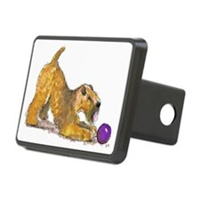 Soft Coated Wheaten Terrier with Ball Hitch Cover
