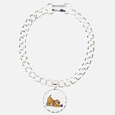 Soft Coated Wheaten Terrier with Ball Bracelet